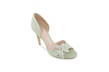 Biondini by Shoeville Peep Toe Heels with 2D Flower