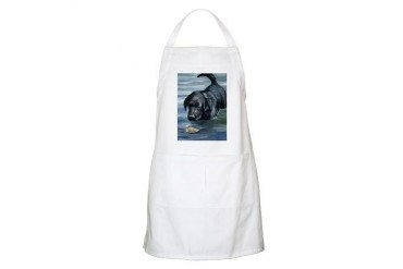 Black Lab and Duckling BBQ Pets Apron by CafePress