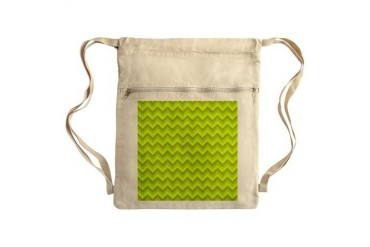 Bright Green Zagzag Chevron. Sack Pack Green Cinch Sack by CafePress