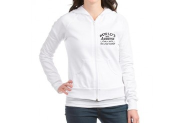 Awesome Teacher Jr. Hoodie by CafePress