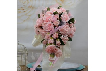 Gorgeous Hand-tied Foam/Poly Ethylene Bridal Bouquets (123053201)