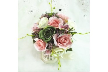 Delicate Round Artificial Silk Bridesmaid Bouquets (123048083)