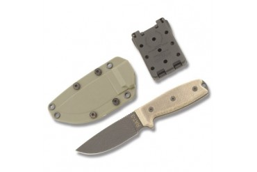 Ontario RAT-3 with Plain Blade and Green Canvas Micarta Handle