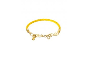 Mari Fiendship Leather and Silver Vermeil Bangle