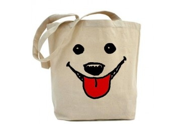 Happy Dog Face Tote Bag