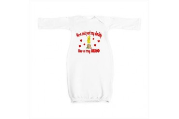 3-not just my daddy firehearts.png Funny Baby Gown by CafePress