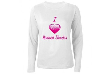 I Love/Heart Horned Sharks Women's Long Sleeve T-S Animals Women's Long Sleeve T-Shirt by CafePress
