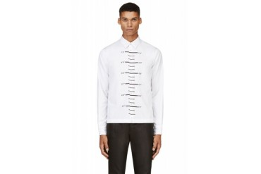 Dsquared2 White Ruler Graphic Shirt
