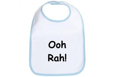 Ooh Rah - Black Military Bib by CafePress