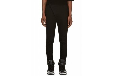 D.gnak By Kang.d Black Oblique Zip Trousers