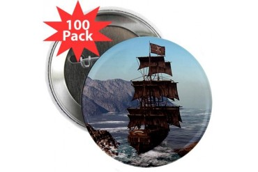Pirate Ship 2.25quot; Button 100 pack Pirate 2.25 Button 100 pack by CafePress