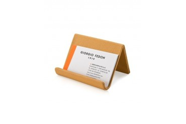 Camel Grained Business Card Desk Holder