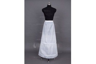 Women Nylon Floor-length 1 Tiers Petticoats (037024156)