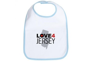 Love 4 Jersey New york Bib by CafePress