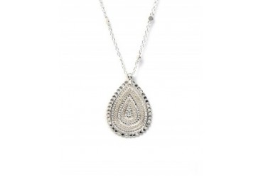 Anna Beck 'Flores' Teardrop Pendant Necklace Silver