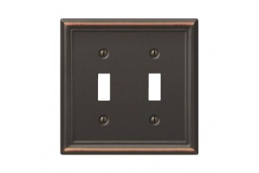 3 Pack Amerelle Chelsea Stamped Steel Switch Wall Plate