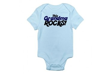 This Grandma ROCKS Funny Infant Bodysuit by CafePress