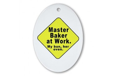 Dad-To-Be:Master Baker Funny Oval Ornament by CafePress