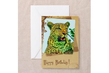 Happy birthday Animal Greeting Card by CafePress
