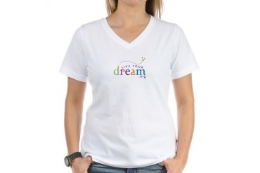 Women's V-Neck Live Your Dream T-Shirt