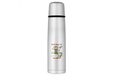 Funny Goat Berries Large Thermos Bottle Pets Large Thermosreg; Bottle by CafePress