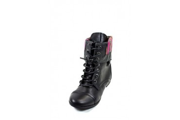 Fold-over zip-back combat boot