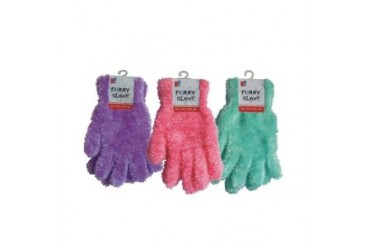 Ddi Ladies Furry Gloves - Assorted (pack Of 144)
