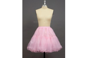 Women/Girls Organza/Polyester Short-length 2 Tiers Petticoats (037033996)