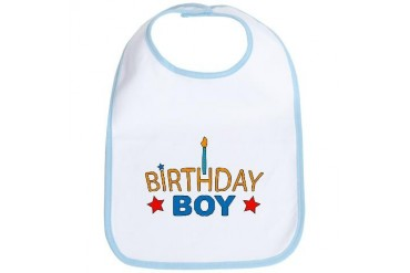 Birthday Boy Baby Birthday Bib by CafePress