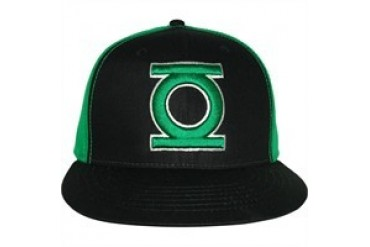 DC Comics Green Lantern Logo Two Tone Embroidered Snap Closure Hat