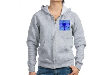 Hanukkah Gifts Jewish Women's Zip Hoodie by CafePress