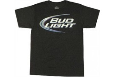 Anheuser-Busch Bud Light Logo Heather T-Shirt Sheer
