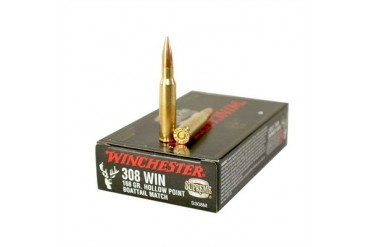 Winchester Supreme Competition Ammunition Win Ammo 308 Win Supreme 168gr Hpbt Comp 20/Bx