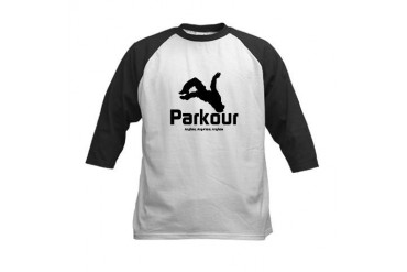 Parkour, Anytime Kids Baseball Jersey