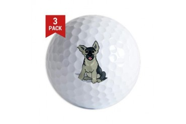 germ-shep-pup.png Dogs Golf Balls by CafePress