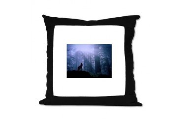 Howling Wolf Wolf Suede Pillow by CafePress
