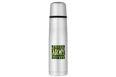 Proud Army Nephew Large Thermos Bottle Army Large Thermosreg; Bottle by CafePress
