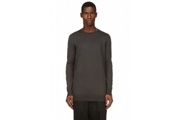 Costume National Grey Panelled Sweater