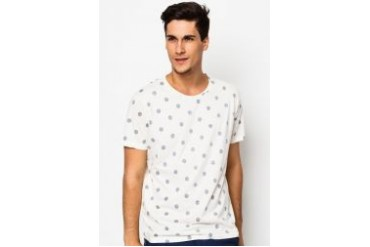 Selected Dot Short Sleeve Round Neck T-Shirt