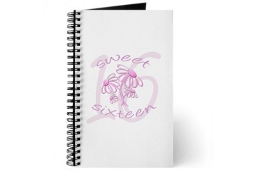 Floral Sweet Sixteen / Diary Birthday Journal by CafePress