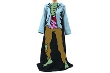 Funny Zombie Costume Fleece Sleeved Blanket Snuggler