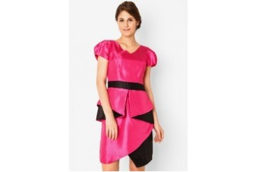 Dei Reich Two Color Peplum Dress
