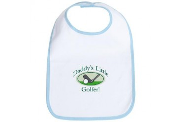 Daddy's Little Golfer Baby Sports Bib by CafePress