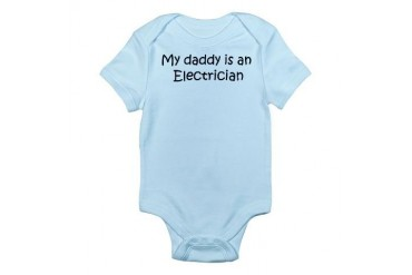 Daddy: Electrician Infant Creeper