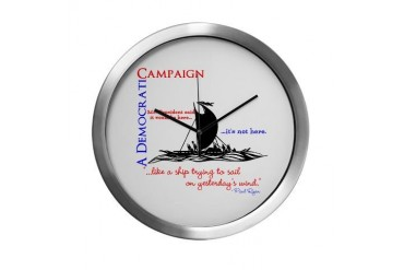 A Democratic Campaign Republican Modern Wall Clock by CafePress
