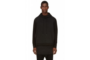 D.gnak By Kang.d Black Layered Hoodie
