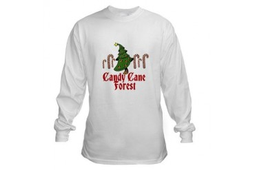 Candy Cane Forest ELF Movies Long Sleeve T-Shirt by CafePress