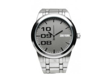 Silver Watch with Gun Metal Dial