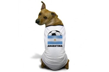 Argentina Soccer Sports Dog T-Shirt by CafePress