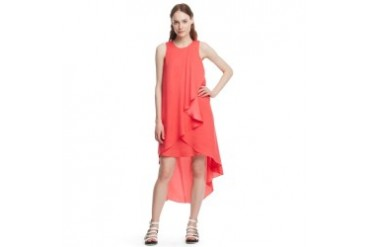 Lesley Draped Crepe de Chine Dress